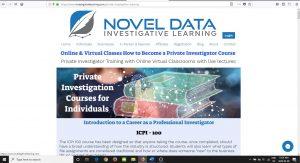 Private Investigator online training