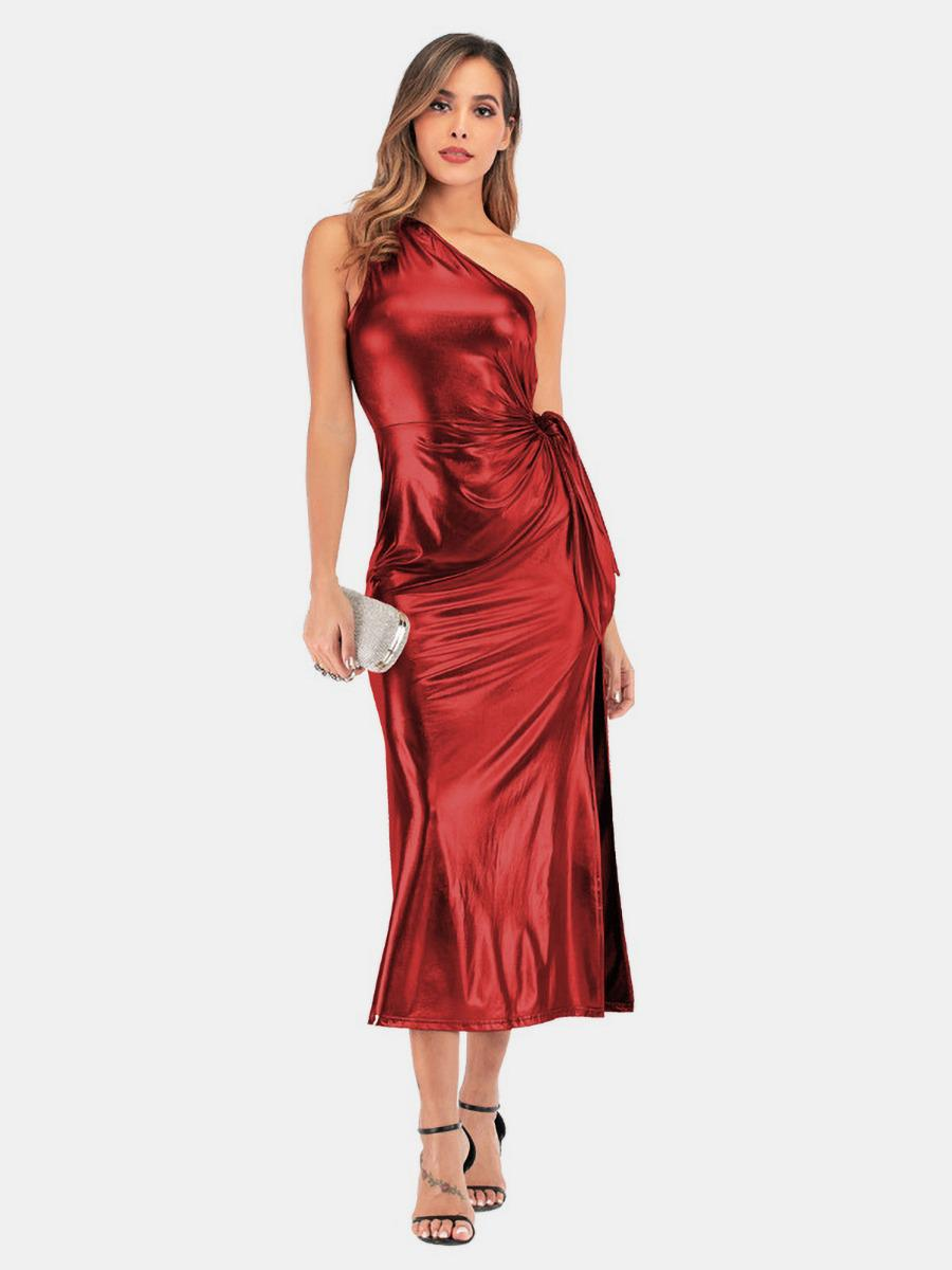 shestar wholesale womens shiny one shoulder party dresses