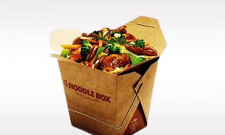Chinese food containers unfold
