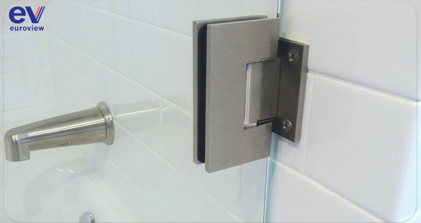 Glass shower door hinges