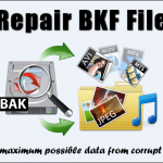 Restore BKF file with BKF file Recovery Tool