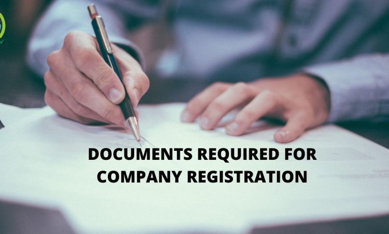 Documentation Required for Company Registration