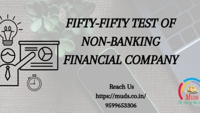 Photo of FIFTY-FIFTY TEST OF NON-BANKING FINANCIAL COMPANY