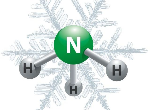The formula of ammonia is NH3. it's a liquid which has the molecular mass (17 amu). The Lewis structure of ammonia, NH3, would be three hydrogen atoms bonded to a nitrogen atom within the middle, with the one lone pair.