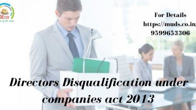 Photo of Directors Disqualification under companies act 2013