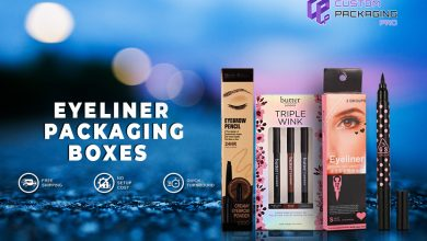 Photo of Eyeliner Packaging Boxes Creating a Sound Image at Display