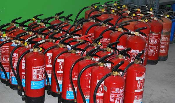 Fire extinguisher rewind